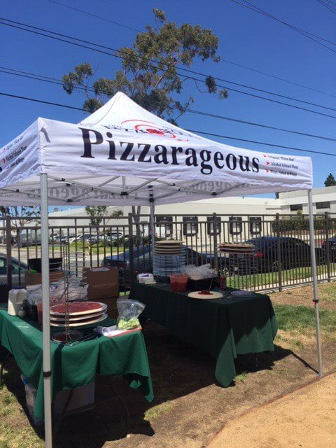 Pizzarageous tent