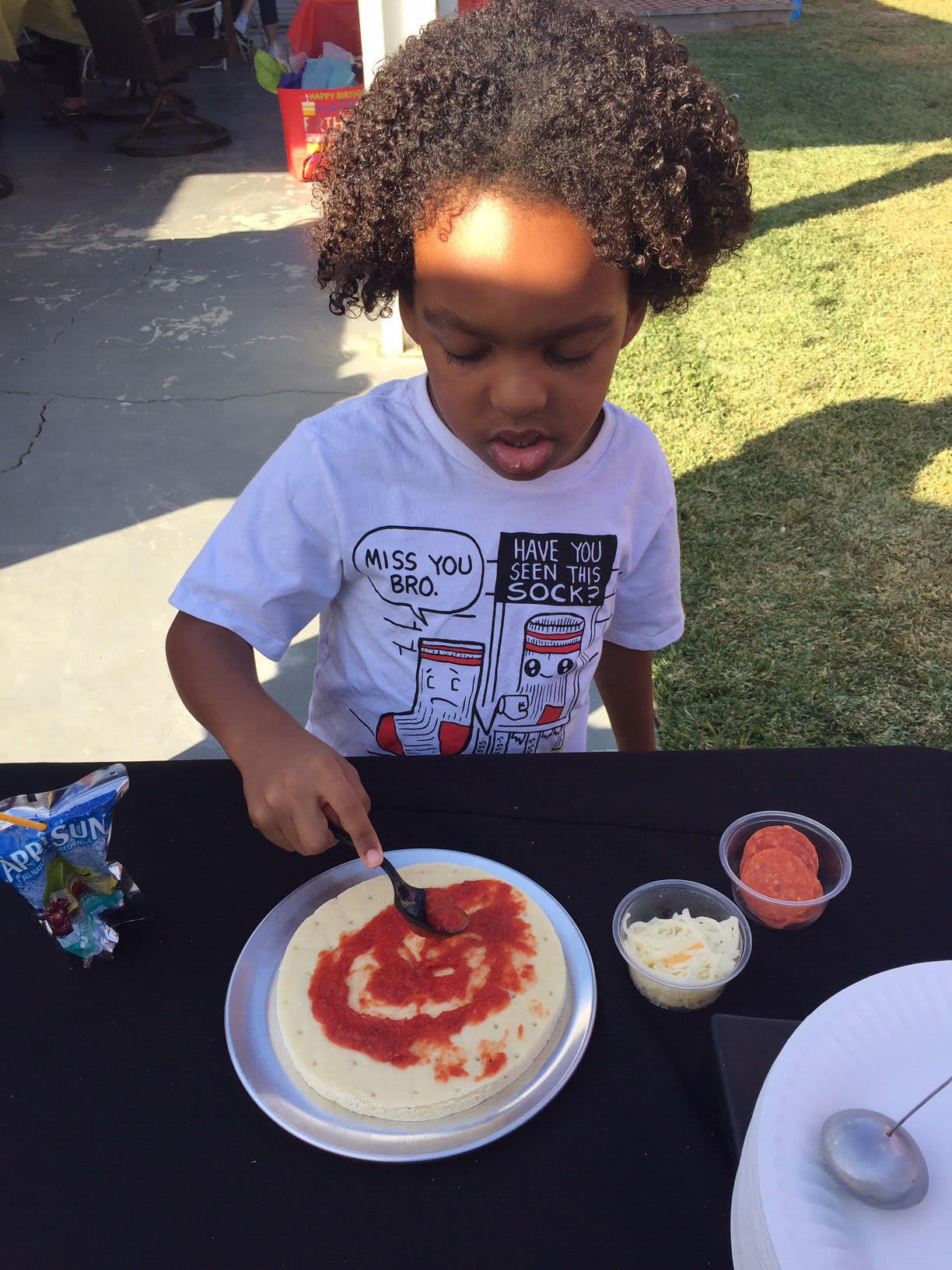 Pizzarageous childrens birthday party