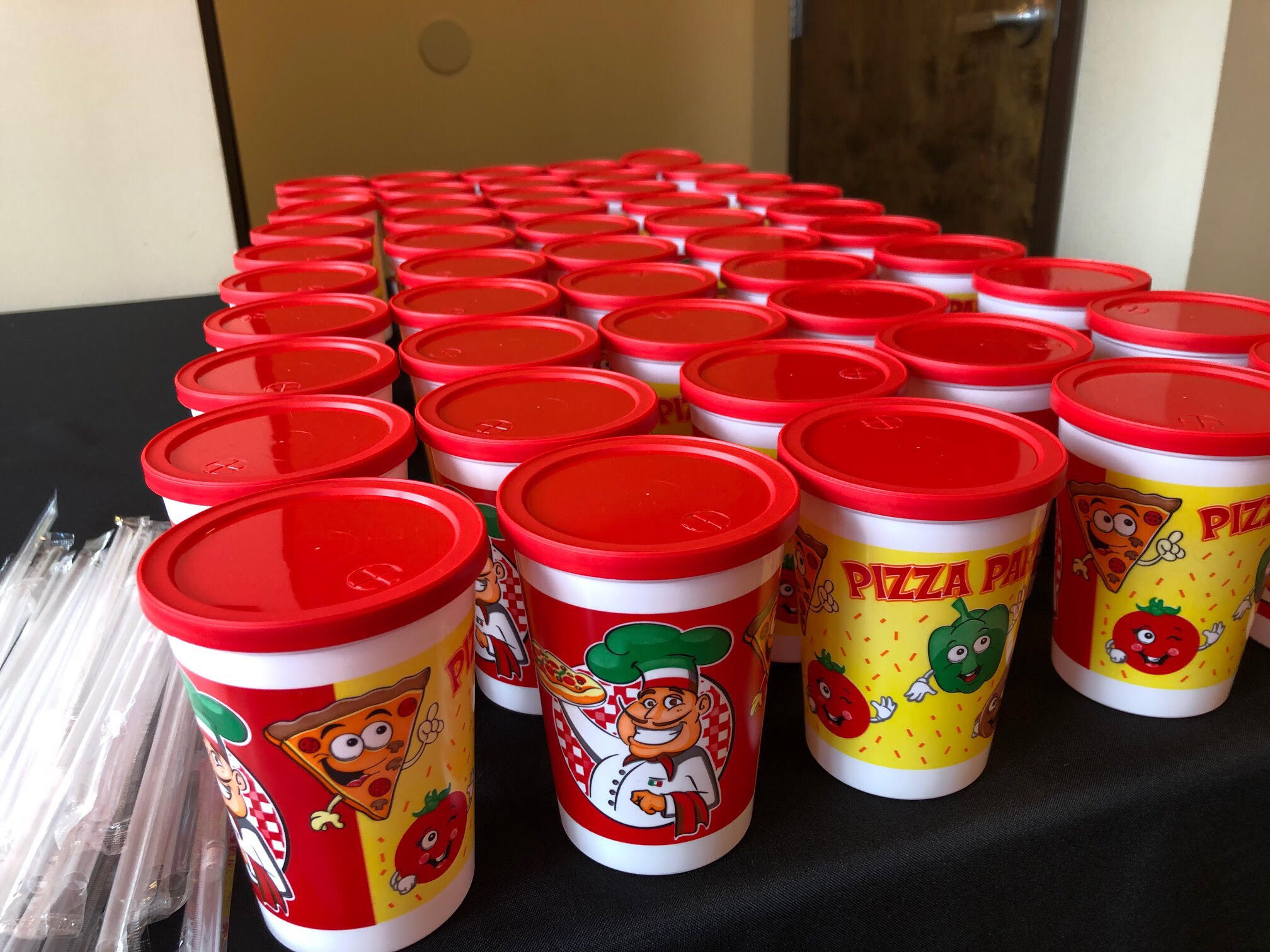 pizzarageous childrens birthday party fun cups